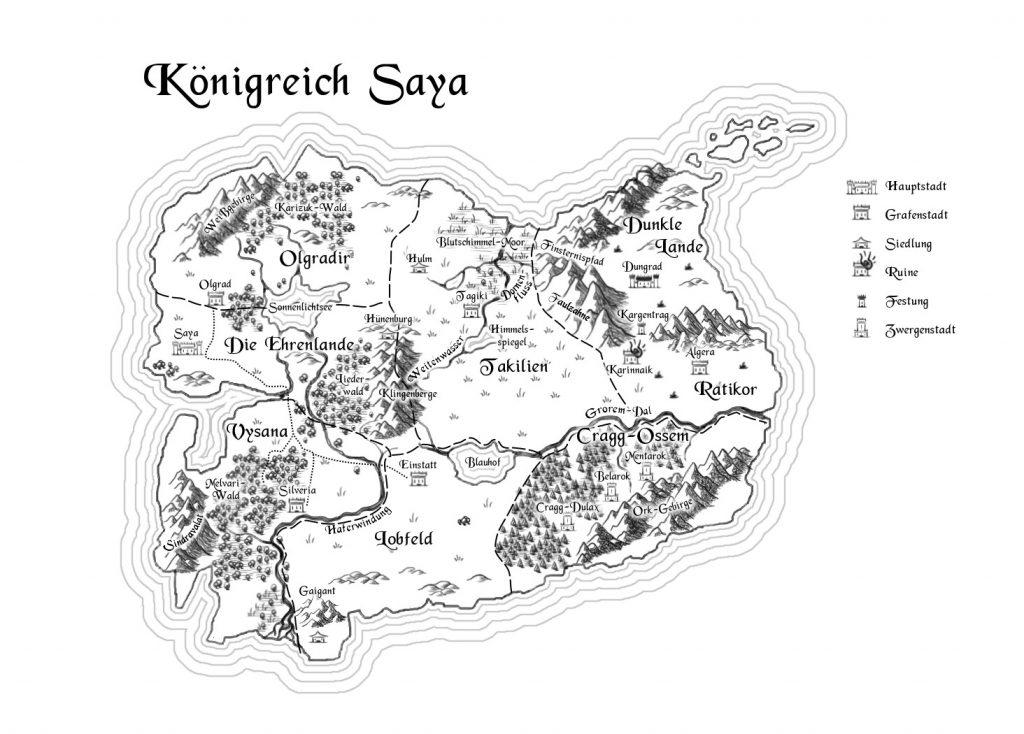 Karte von Saya